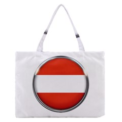 Austria Country Nation Flag Zipper Medium Tote Bag