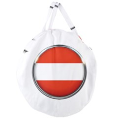 Austria Country Nation Flag Giant Round Zipper Tote
