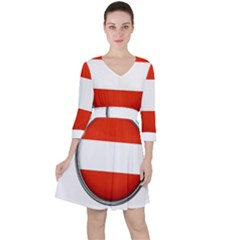 Austria Country Nation Flag Ruffle Dress