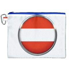 Austria Country Nation Flag Canvas Cosmetic Bag (xxl) by Nexatart