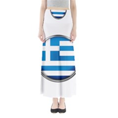 Greece Greek Europe Athens Full Length Maxi Skirt by Nexatart