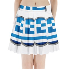 Greece Greek Europe Athens Pleated Mini Skirt