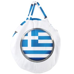 Greece Greek Europe Athens Giant Round Zipper Tote