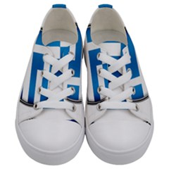 Greece Greek Europe Athens Kids  Low Top Canvas Sneakers