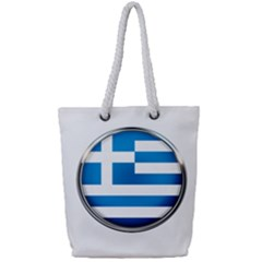 Greece Greek Europe Athens Full Print Rope Handle Tote (small)