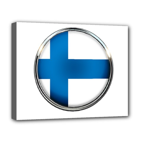 Finland Country Flag Countries Deluxe Canvas 20  X 16