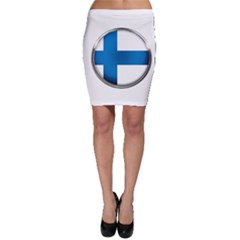 Finland Country Flag Countries Bodycon Skirt