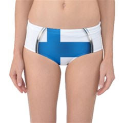 Finland Country Flag Countries Mid Waist Bikini Bottoms