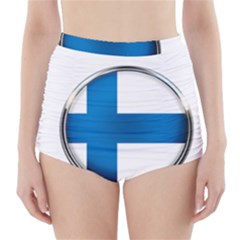 Finland Country Flag Countries High Waisted Bikini Bottoms