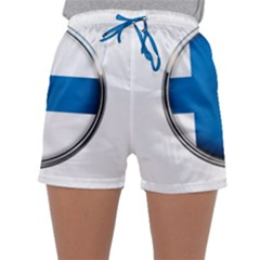 Finland Country Flag Countries Sleepwear Shorts