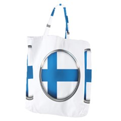 Finland Country Flag Countries Giant Grocery Zipper Tote