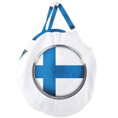 Finland Country Flag Countries Giant Round Zipper Tote