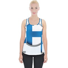 Finland Country Flag Countries Piece Up Tank Top