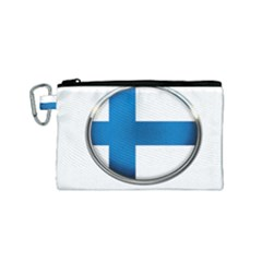 Finland Country Flag Countries Canvas Cosmetic Bag (small)