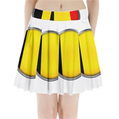 Belgium Flag Country Brussels Pleated Mini Skirt