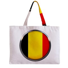 Belgium Flag Country Brussels Zipper Medium Tote Bag
