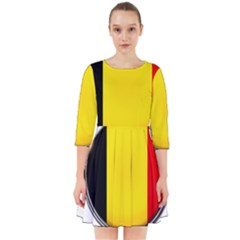 Belgium Flag Country Brussels Smock Dress
