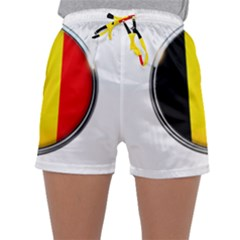 Belgium Flag Country Brussels Sleepwear Shorts