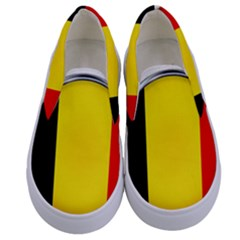 Belgium Flag Country Brussels Kids  Canvas Slip Ons