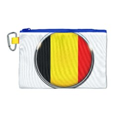 Belgium Flag Country Brussels Canvas Cosmetic Bag (large) by Nexatart