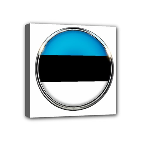 Estonia Country Flag Countries Mini Canvas 4  X 4