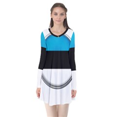 Estonia Country Flag Countries Flare Dress