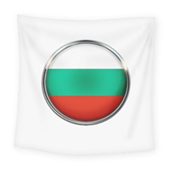 Bulgaria Country Nation Nationality Square Tapestry (large) by Nexatart