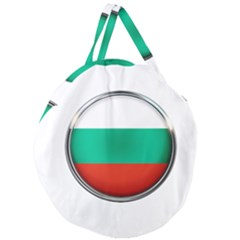 Bulgaria Country Nation Nationality Giant Round Zipper Tote