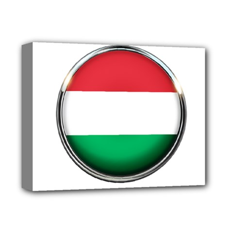 Hungary Flag Country Countries Deluxe Canvas 14  X 11  by Nexatart