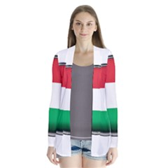 Hungary Flag Country Countries Drape Collar Cardigan