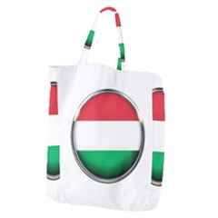 Hungary Flag Country Countries Giant Grocery Zipper Tote