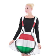 Hungary Flag Country Countries Suspender Skater Skirt