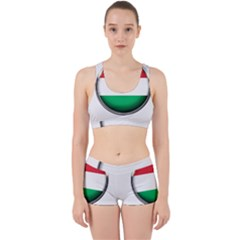 Hungary Flag Country Countries Work It Out Sports Bra Set by Nexatart