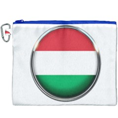 Hungary Flag Country Countries Canvas Cosmetic Bag (xxxl) by Nexatart