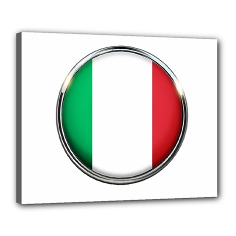 Italy Country Nation Flag Canvas 20  X 16  by Nexatart