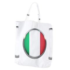 Italy Country Nation Flag Giant Grocery Zipper Tote
