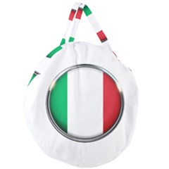 Italy Country Nation Flag Giant Round Zipper Tote