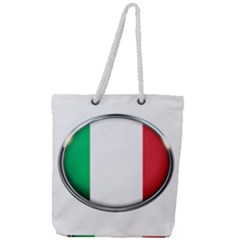 Italy Country Nation Flag Full Print Rope Handle Tote (large)