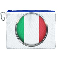 Italy Country Nation Flag Canvas Cosmetic Bag (xxl) by Nexatart