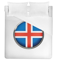 Iceland Flag Europe National Duvet Cover (queen Size) by Nexatart