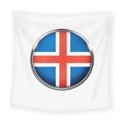 Iceland Flag Europe National Square Tapestry (large)