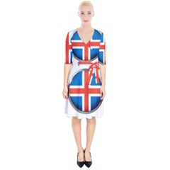 Iceland Flag Europe National Wrap Up Cocktail Dress