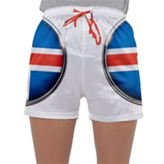 Iceland Flag Europe National Sleepwear Shorts