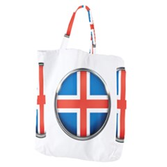 Iceland Flag Europe National Giant Grocery Zipper Tote