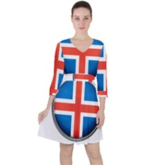 Iceland Flag Europe National Ruffle Dress