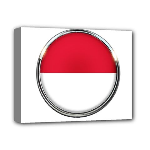 Monaco Or Indonesia Country Nation Nationality Deluxe Canvas 14  X 11  by Nexatart