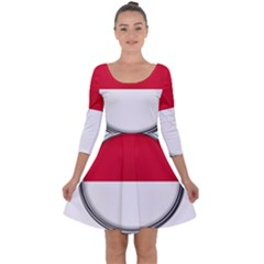 Monaco Or Indonesia Country Nation Nationality Quarter Sleeve Skater Dress