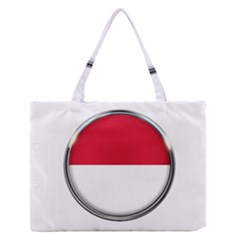 Monaco Or Indonesia Country Nation Nationality Zipper Medium Tote Bag