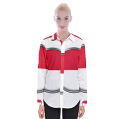 Monaco Or Indonesia Country Nation Nationality Womens Long Sleeve Shirt