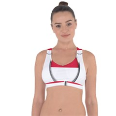 Monaco Or Indonesia Country Nation Nationality Cross String Back Sports Bra